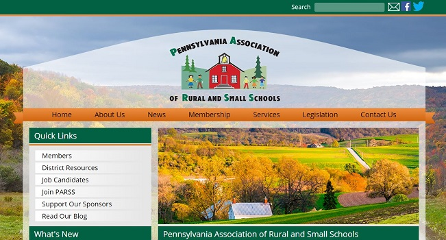 Educational Organization Web Design: Pennsylvania Association of Rural and Small Schools