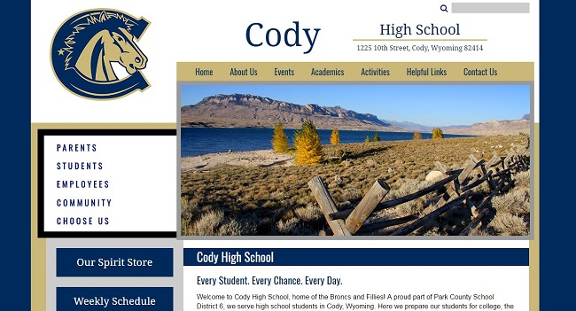 High School Web Design: Park County - Cody High School