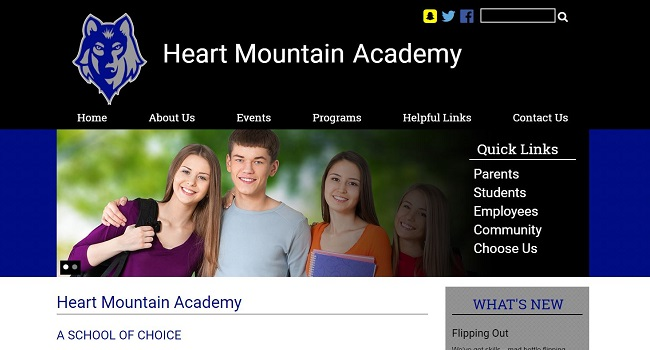 Elementary School Web Design: Heart Mountain Academy