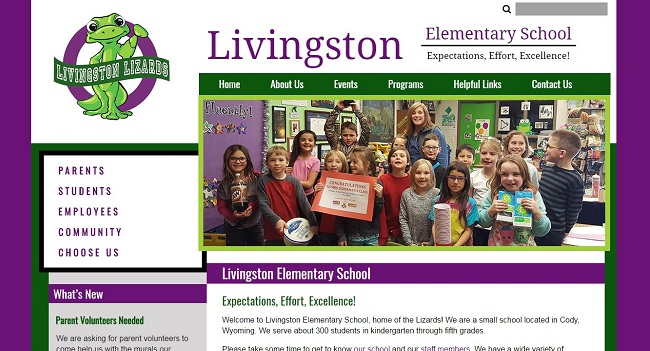 Elementary Web Design: Livingston Academy