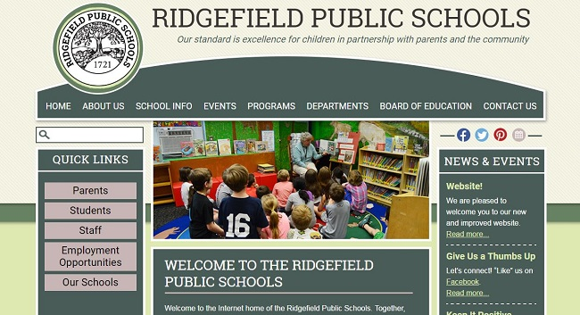 School Website Design: Ridgefield Public Schools