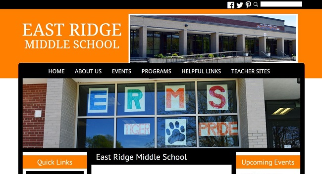 Middle School Web Design: East Ridge Middle School