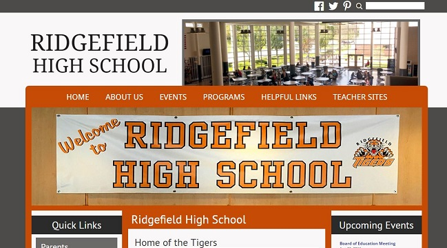 High School Web Design: Ridgefield High School