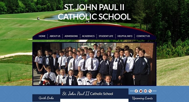 Private School Web Design: St. John Paul II Catholic School