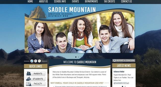 School Website Design: Saddle Mountain