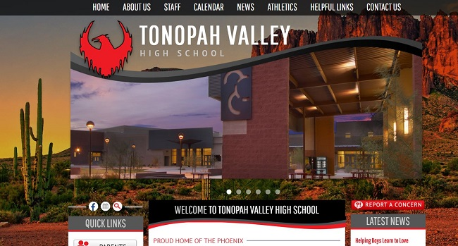 High School Web Design: Tonopah Valley High School