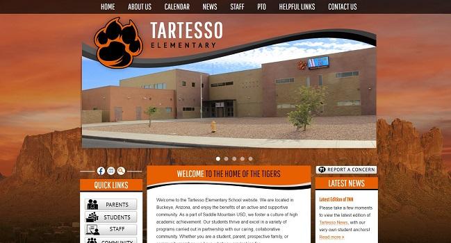 Elementary School Web Design: Tartesso Elementary