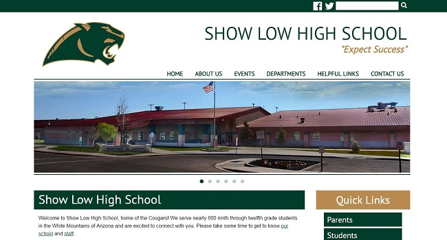 High School Web Design: Show Low High School