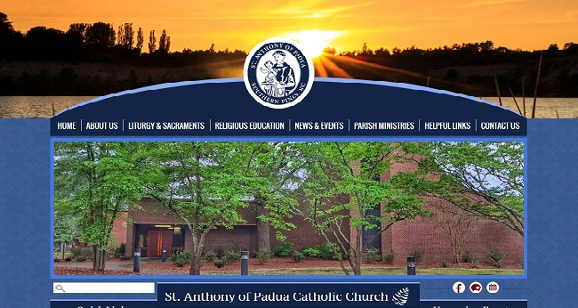 Faith-based Organization Web Design-St. Anthony of Padua Catholic Church