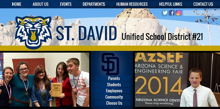 School Website Design: St. David Unified School District