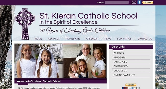 Private School Website Design: St. Kieran Catholic School