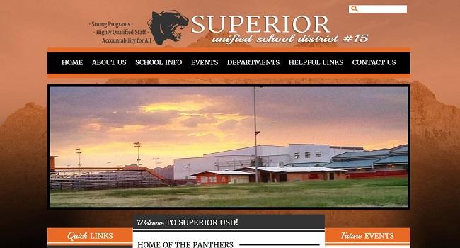 School Website Design: Superior Unified School District #15