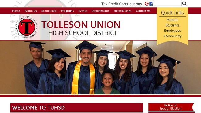 School Website Design: Tolleson Union High School District