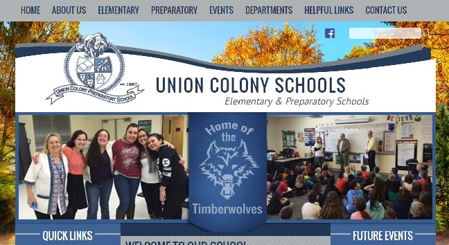 Charter School Web Design: Union Colony