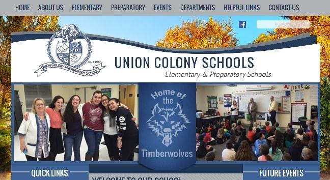 Charter School Web Design: Union Colony