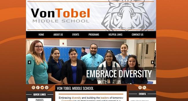 Middle School Web Design: Von Tobel Middle School