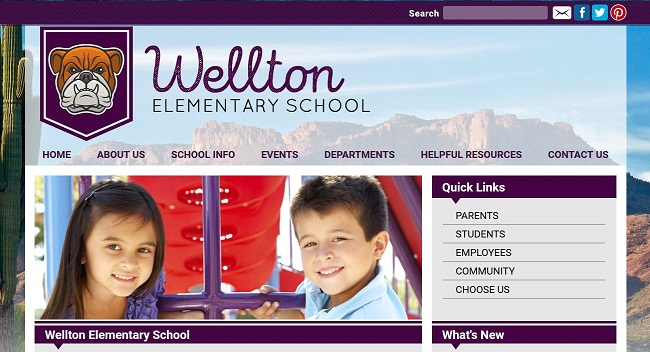 Elementary School Web Design: Wellton