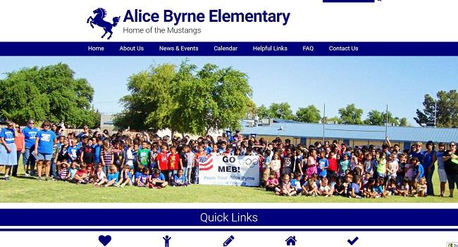 Elementary School Web Desgin: Alice Byrne Elementary
