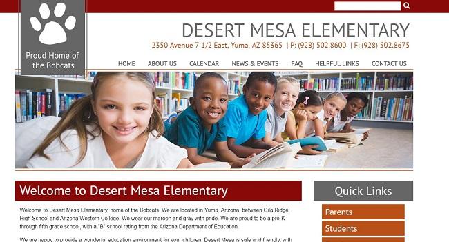 Elementary School Web Design: Desert Mesa Elementary