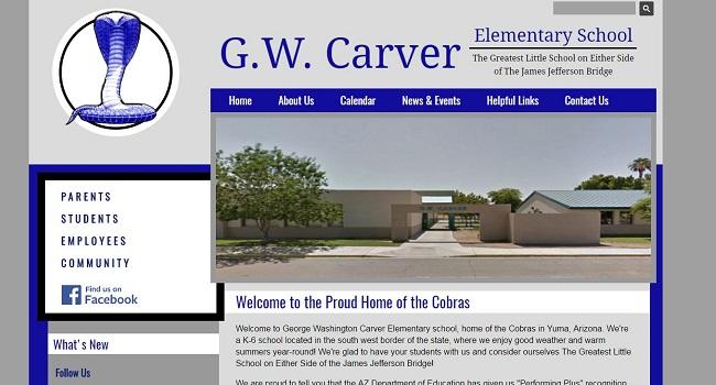 Elementary School Web Design: G.W. Carver Elementary School