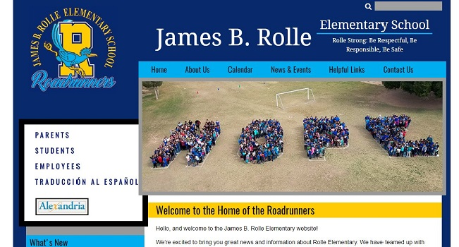 Elementary School Web Design: James B. Rolle