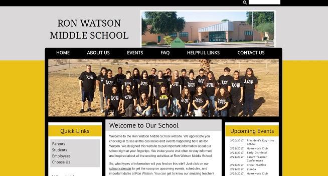 Middle School Web Design: Ron Watson Middle School