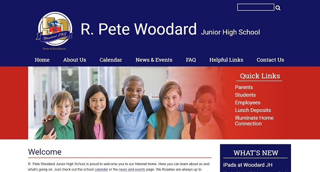 Junior High School Web Design: R. Pete Woodard Junior High School