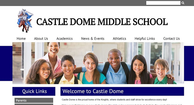 Middle School Web Design: Castle Dome Middle School