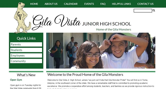 Junior High School Web Design: Gila Vista Junior High School