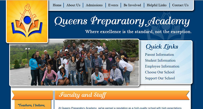 School Web Design: Queens Preparatory Academy