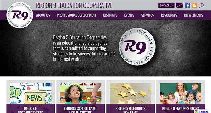 School Website Design: Region 9 Education Cooperative