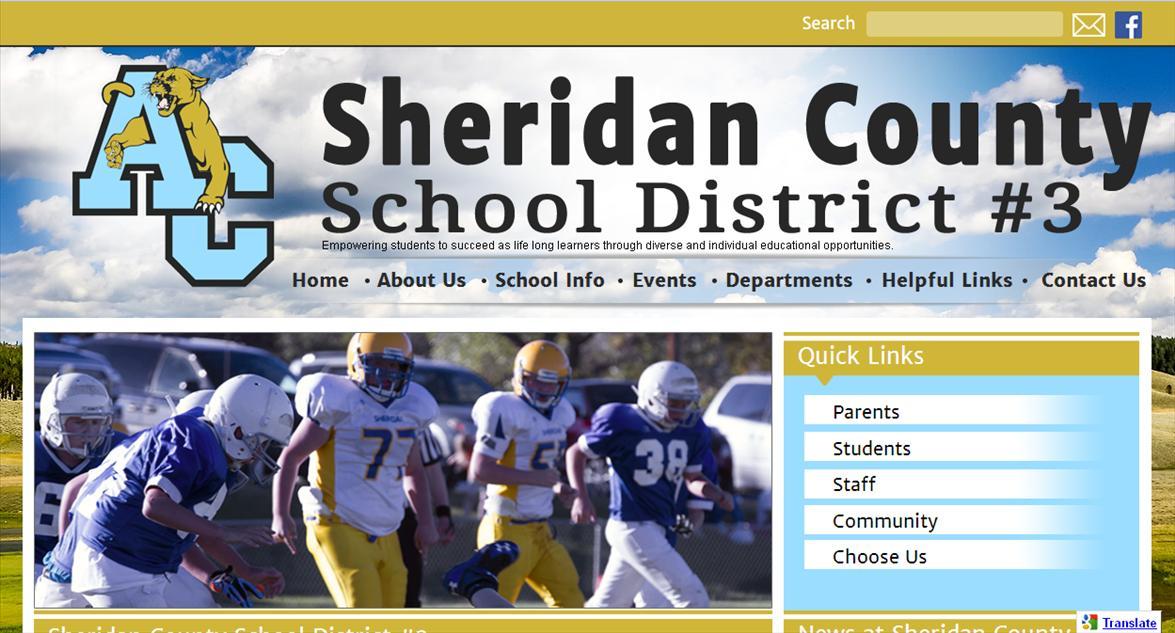 School Website Design: Sheridan County