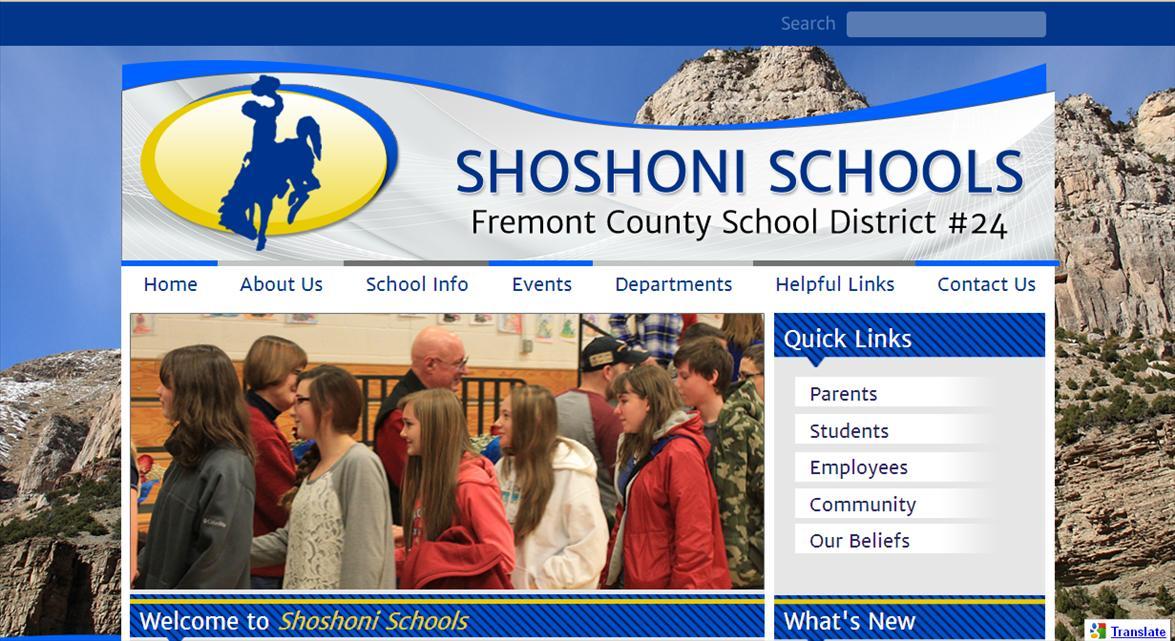 School Website Designs: Shoshoni Schools