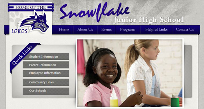 Best School Website Design: Snowflake Junior High School