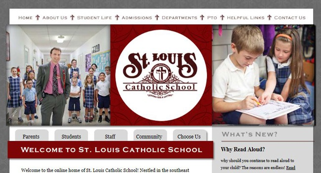 Private School Website Designers: St. Louis Catholic School