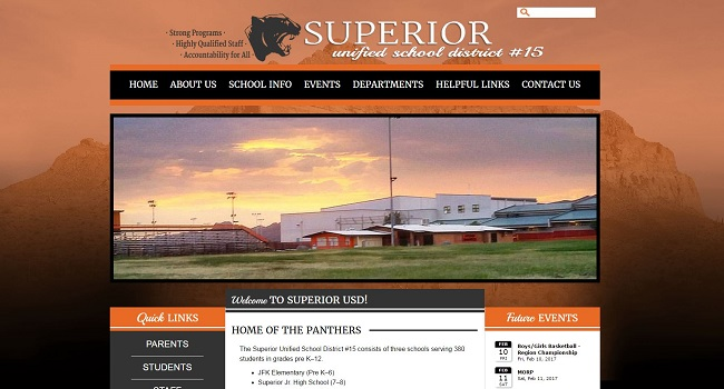 Web Design for High Schools: Superior High School