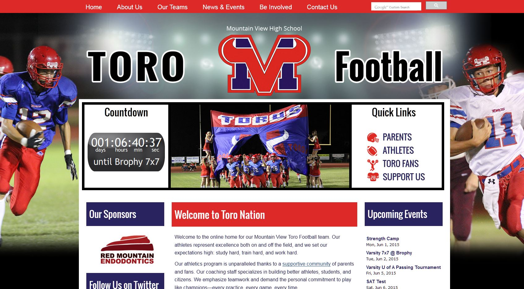 High School Football Websites: Toro Football