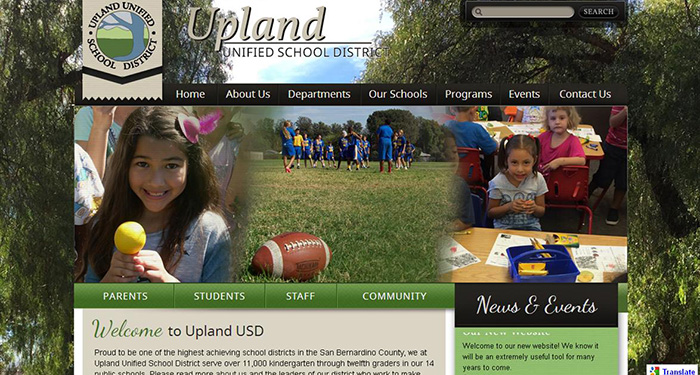 School Web Design: Upland Unified School District