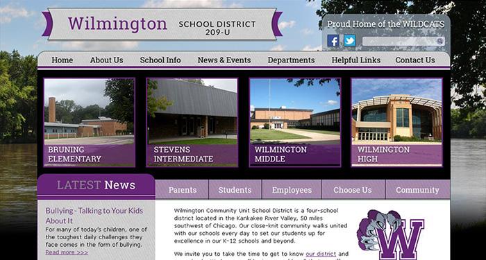 Best School Website Design: Wilmington School District