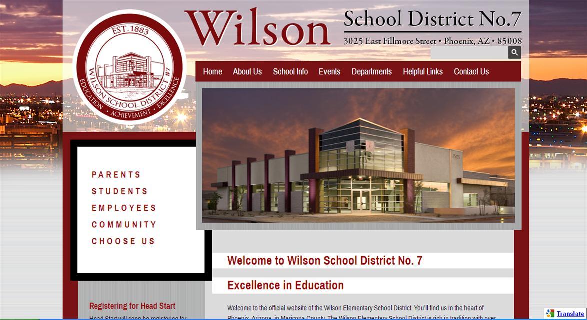 Web Design for Schools: Wilson School District No. 7