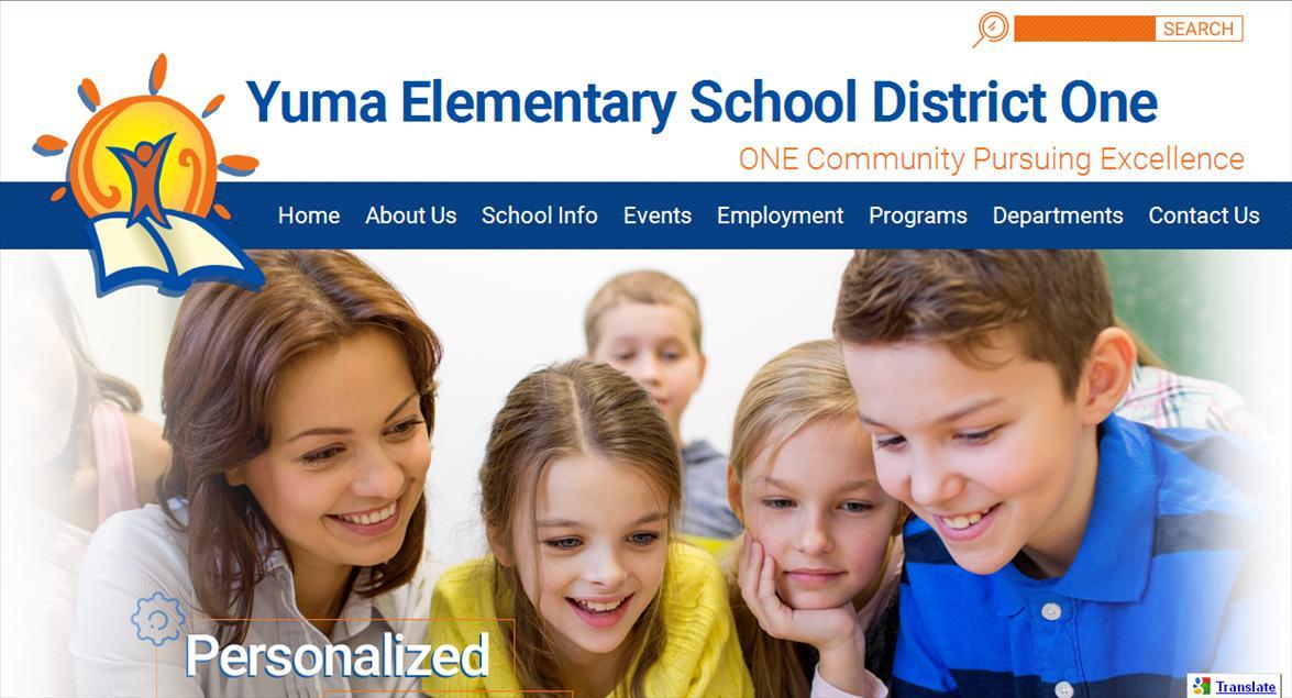Best School Website Design: Yuma Elementary