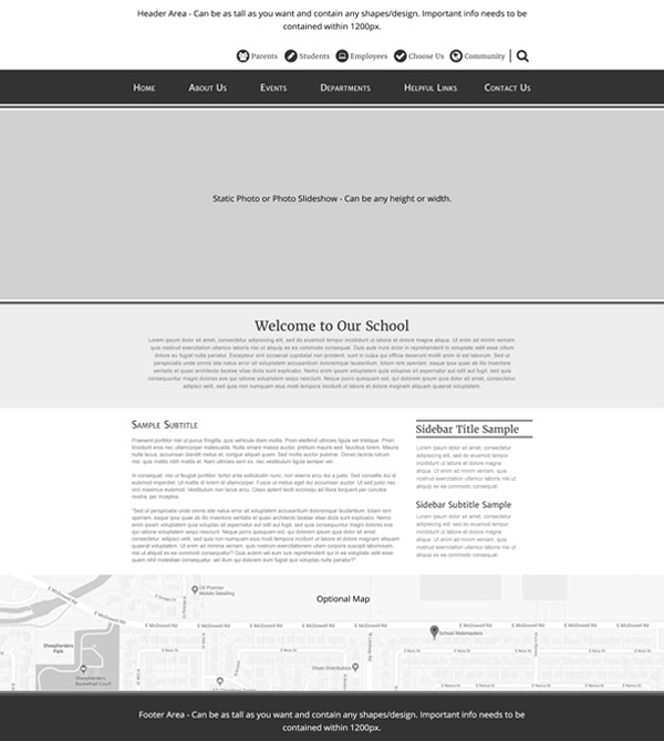 Custom Template School Websites Juniper Home