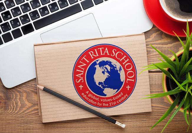 School Logo Design: Saint Rita School