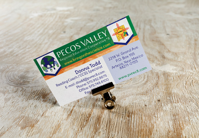 Business Card Design: Pecos Valley REC