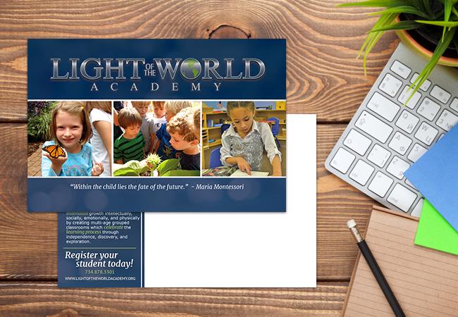 School Postcard Design: Light of the World