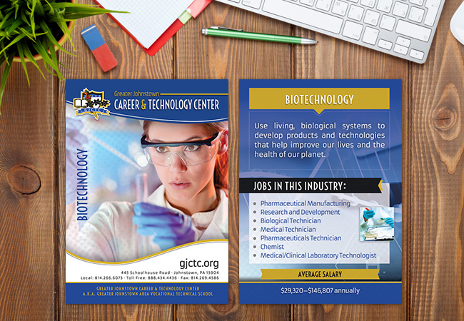 School Rack Cards: Greater Johnstown Biotechnology