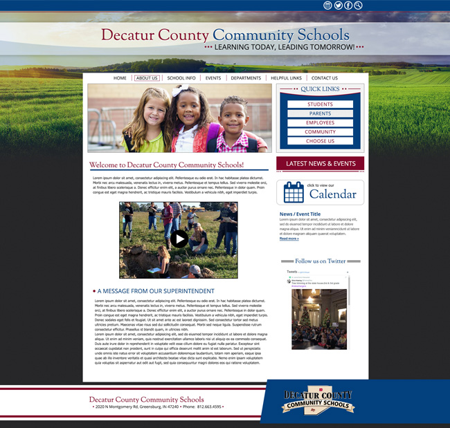Template School Website: Decatur County Community Schools