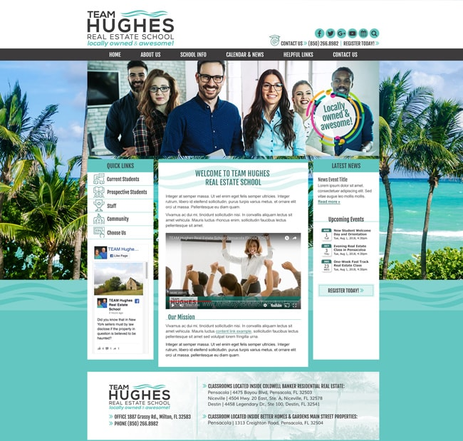 Real Estate School Website Template: Team Hughes Real Estate School