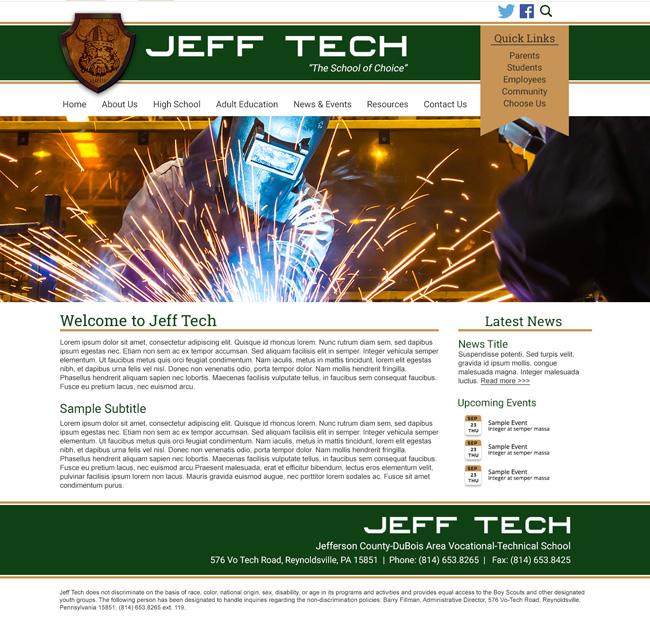 Customized School Template: Jeff Tech