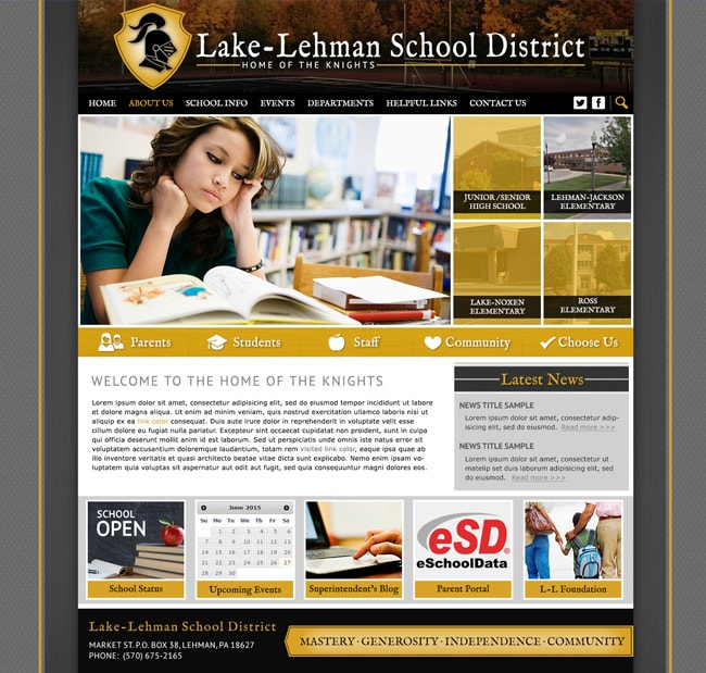Website for Districts: Fremont County